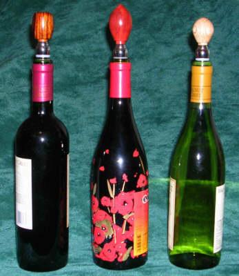 Wine bottles with stoppers